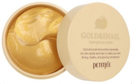 Патчи гидрогелевые для глаз PETITFEE Gold & Snail Eye Patch: фото