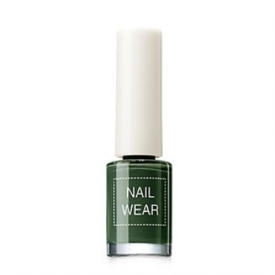 Лак для ногтей The Saem Nail Wear 89.Deep green 7мл: фото