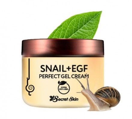 Крем-гель для лица с экстрактом улитки SECRET SKIN SNAIL+EGF PERFECT GEL CREAM 50г: фото