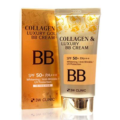 ББ крем с коллагеном и коллоидным золотом 3W CLINIC Collagen & Luxury Gold BB Cream SPF50+/PA+++: фото