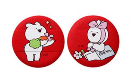 Спонж косметический для пудры THE SAEM Over Action Little Rabbit Love Me Cushion Puff 02 2шт: фото