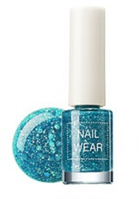 Лак для ногтей The Saem Nail Wear 42. aqua gem 7мл: фото