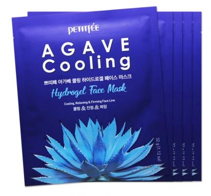 Набор гидрогелевых масок c экстрактом АГАВЫ PETITFEE Agave Cooling Hydrogel Face Mask 32г*5шт: фото