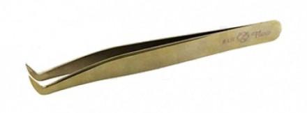 Пинцет для объемного наращивания ресниц Flario LR-Gold: фото