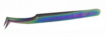 Пинцет для ресниц изогнутый мульти-цвет Flario LaForza L: фото