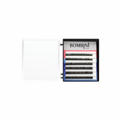 Ресницы Bombini Черные, 6 линий, изгиб D+ - mini-MIX 5-7 0.07: фото