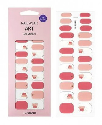 Наклейки для ногтей THE SAEM Nail Wear Art Gel Sticker 06 Pink Dye: фото