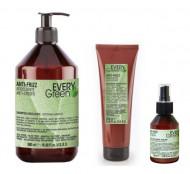 Набор для вьющихся волос Dikson EVERY GREEN Anti Frizz: шампунь500мл + маска250мл + сыворотка100мл: фото