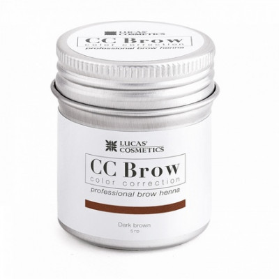 Хна для бровей CC Brow в баночке (dark brown) 5 г: фото