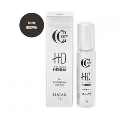 Хна для бровей CC Brow Premium henna HD Mink brown 5 г: фото