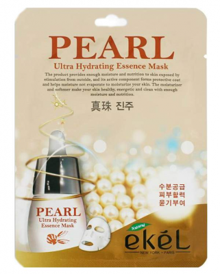 Тканевая маска для лица с жемчугом EKEL Pearl Ultra Hydrating Essence Mask 25г: фото