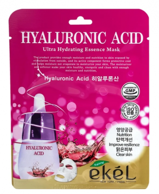 Тканевая маска для лица с гиалуроновой кислотой EKEL Hyaluronic Acid Ultra Hydrating Essence Mask 25г: фото