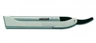 Бритва безопасная с металлической ручкой из нержавеющей стали c лезвиями Jaguar JT1M Black 62мм + 10шт: фото