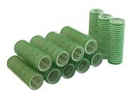 Бигуди на липучке Sibel 21мм зеленые 12шт: фото