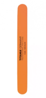Пилочка для ногтей полировочная песочная TITANIA оранжевая: фото